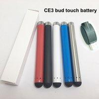 vape pen batterie automatisch großhandel-ce3 vape cartridges automatische batterie - 280 mah o pen bud touch vaporizer stifte batterien 7 farben auf lager