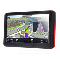 Wholesale portable navigation car online - Portable Inch GPS Navigator Car Truck Navigation Case MTK FM Sat Nav Navitel Russia Map Europe America Asia Africa Israel Maps