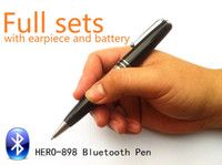 Wholesale universal earpiece - EDIMAEG High Quality Bluetooth Pen with wireless Earpiece 50-60cm Long Transmitting Distance Can Listen During Writing, 1# only pen, 2# full