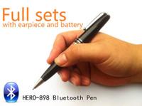 stylo long achat en gros de-Stylo Bluetooth EDIMAEG de haute qualité avec oreillette sans fil 50-60cm Distance de transmission pouvant être écoutée pendant l'écriture, 1 # stylo seulement, 2 # complet