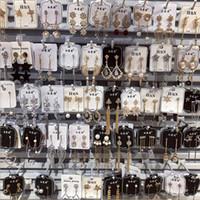 ingrosso orecchini antiallergici-Orecchino di moda Placca in argento 925 ago Ago anti allergia Diamante oro reale Orecchini temperamento nobili Accessori squisita donna