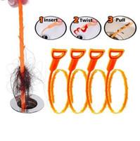 ingrosso capelli imballati-52 cm Snake Drain Weasel Hair Clog Strumento Starter Kit per la pulizia degli strumenti di pulizia per la pulizia della casa con pacchetto Opp CCA10086 500 pezzi