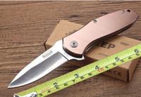 nova bronzear faca de sobrevivência ao ar livre venda por atacado-Atacado KERSHAW camping faca de bolso espelho lâmina Browning novas táticas de camping faca dobrável ferramentas ao ar livre faca de sobrevivência caso embalagem