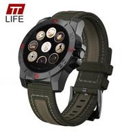 termómetro de escalada al por mayor-Inteligente del reloj de los hombres TTLIFE altímetro del compás de Bluetooth monitor del ritmo cardíaco del termómetro reloj de los deportes de los hombres Barómetro Reloj de pulsera Escalada