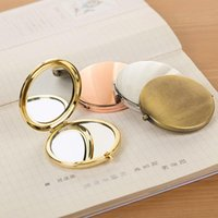 Wholesale two faced cosmetics resale online - Mirror Alloy Plaster Manual Diy Cosmetic Mirrors With Aluminum Sheet Two Sides Metal Small Mirrors Wedding Favor hz ff