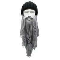 Men s Barbarian Beard Horn Hats Handmade Winter Warm Hunting Ski Birthday  Cool Gifts Funny Gag Cap 1 piece New 99e2cd0c803
