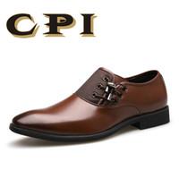 ingrosso zy-CPI marca 2018 scarpe da uomo nuovo vestito taglia 38-48 nero classico punta a punta oxford per gli uomini moda uomo business party scarpe ZY-07