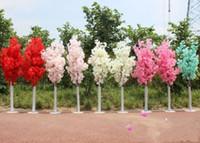 ingrosso fiorire-1.5M 5 piedi altezza bianca artificiale Cherry Blossom Tree Colonna romana conduce per centro commerciale aperto Matrimoni