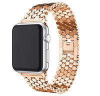 Wholesale pink bracelets for sale resale online - Hot sale Stainless Steel Watch band Strap for apple watch mm mm link bracelet Replacement Watchband for iwatch serise