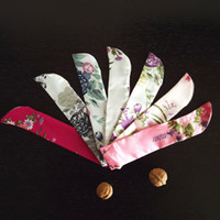 Wholesale Case Fan Cover - Wholesale Chinese Silk Folding Hand Fan Pouch Chopstick Cover Case Festive & Party Supplies