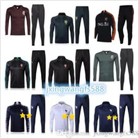 Wholesale white army jacket - top quality 2018 World Cup Colombia Mexico Tracksuit soccer jacket 18 19 Netherlands chandal MBAPPE GRIEZMANN 2 stars football Training suit