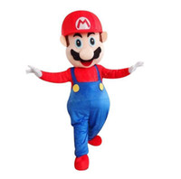 süper mario maskot kostüm toptan satış-2018 Sıcak satış süper mario Maskot kostüm Reklam kostümleri Cadılar Bayramı tatil kostümleri Ücretsiz Kargo