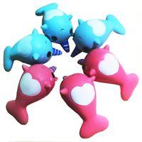 Wholesale pvc paste - 8cm unicorn Squishy Toys for Kids slow rising squishy Finger Doll jumbo squishy unicorn whales Toy Stretchy Animal Healing Stress Paste