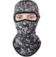 Wholesale airsoft mask army for sale - Sports Camo Balaclava Airsoft Hunting Outdoor Camouflage Army Cycling Motorcycle Cap Hats Full Face Mask Tactical skull cs masks