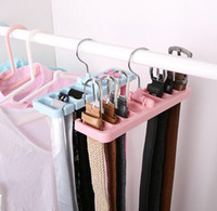 Wholesale rotating clothes rack online - Storage Rack Tie Belt Organizer Space Saver Rotating Scarf Ties Hanger Holder Hook Closet Organization Tank Tops Bra Belts Bag