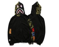Wholesale Skull Head Sweater - Popular Brand Shark Head Skull Head Dark Black Hedge Sweater Hoodies Jackets Loves Skateboard Hip Hop Hoodies