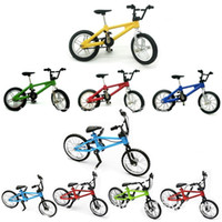 Wholesale alloy bicycle wheel - Originality Simulation Mini Finger Funny Bicycle Model Alloy Small Wheel Single Car Novelty Toy Bike New Arrival 3dq W