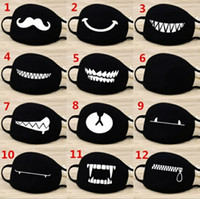 Wholesale dust masked cotton - Face Mouth Mask Unisex 12 Style Camouflage Mouth-muffle Unisex Respirator Stop Air Pollution Cartoon Lovely Cotton Mask