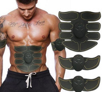 Wholesale arms slimming belts resale online - 8 abdominal muscle Ultimate ABS Stimulator Abdominal EMS Muscle Exerciser Belt Fat Burner Massager Body Slimming Pad Arms Full Set