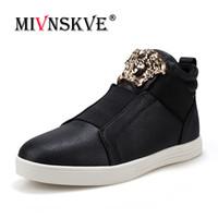 f010525cb53 punk rock shoes men 2019 - MIVNSKVE Hombre Zapatos de cuero casuales con  cordones Remate alto