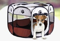 Wholesale Tents Dogs - Pet Tent Dog Tabernacle Pet Bed Kennel Dog House Pet Tent Cage Oxford Fabric Steel Frame