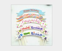 Shop small greeting cards wholesalers uk small greeting cards wholesale paper cake topper for happy birthday party festive personalize cake topper dcake small cake card greeting card pull flag creative m4hsunfo