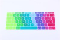 Wholesale 12 inch sticker resale online - EU version Spanish Keyboard Cover Silicone Skin for New Macbook Inch Protector Sticker film