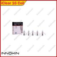 iclear16 spulen großhandel-Innokin Spule Für iClear 16 Clearomizer Ersatz Doppelspule Für Iclear16 Zerstäuber Spule Kopf 1,5 ohm / 2,1 ohm freies verschiffen