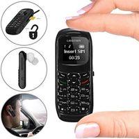 ingrosso super piccolo cellulare-GANSS Super Small Tiny Bluetooth Headset con Dialer Cellulare Cellulare Auricolari Mini Ottimo per nascondere il telefono GSM