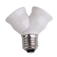 Wholesale lamp socket splitter - Home Decor E27 Base Light Lamp Bulb Socket 1 To 2 Splitter Adapter Converter Socket Multi Interface Lighting Converters