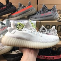 Wholesale Tint Bowls - Adidas 2018 Yeezy 350 V2 Semi Frozen Yellow Beluga 2.0 Blue Tint Zebra Cream White Sply 350 Sports Running Shoes Mens Womens Sneakers Shoes