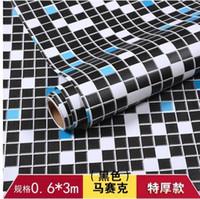 Wholesale wholesale black mosaic tile - Mosaic Background Wallpaper Self - adhesive Waterproof Kitchen Bathroom Sticker Refurbished Tile Wallpaper-802