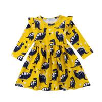 robes de soirée simples pour les filles achat en gros de-Enfant en bas âge enfants bébé filles animal dinosaure partie robe et shorts tenues vêtements famille correspondant tenues