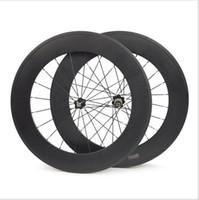 novatec röhrenräder groihandel-88mm Vollcarbon-Fahrradräder Vorder- oder Hinterrad 700C Rennrad Leichtgewichtig 3K Hochglanz-Rohroberfläche Novatec Hub