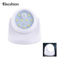 Wholesale Used Head Lights - Elecshion LED SMD Wireless Motion Sensor E27 Night Light Battery Emergency Lamp Rotating Head For Angled Use Baby Room Bedroom