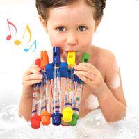 звуки флейты оптовых-Забавные звуки музыки Детские игрушки для купания Водная флейта Игрушка для плавания для малышей Развивающие детские игрушки для детей