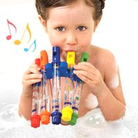 Wholesale tub baby online - Fun Music Sounds Baby Bath Toys Water Flute Swimming Toy for Kid Educational Kids early learning Bath Tub Tunes Toy