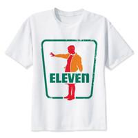 Wholesale Organic Tee Shirts - Stranger Things Eleven Demogorgon Upside Down T-shirt Male Men Fashion Funny T-shirt Tee Top Shirt Male Man S-3XL