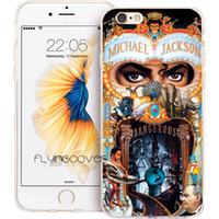 Wholesale phone 4s case - Michael Jackson MJ Clear Soft TPU Silicone Phone Cover for iPhone X 7 8 Plus 5S 5 SE 6 6S Plus 5C 4S 4 iPod Touch 6 5 Cases.