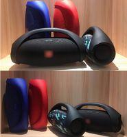 bluetooth inalámbrico boombox al por mayor-Boombox inalámbrico Altavoz Bluetooth Columna portátil al aire libre Audio estéreo HiFi Bass Altavoz a prueba de salpicaduras Altavoces DHL libre