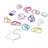 metallkugelkettenketten großhandel-5 MM Hohe Qualität Nail art Tipps 3D Aufkleber Metall Glitter Striping Ball Perlen Kette Dekorationen Shiny Runde Bunte Maniküre DIY