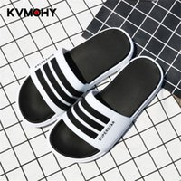 плоские трикотажные платформы оптовых-Slippers Men Couple Lovers Home Slippers Flip Flops Soft Comfort Flat Platform Slipper Male/Female Slides Mens Shoes