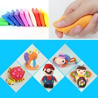 Wholesale Wholesale Air Dry Clay - Ultra Light Mud Plasticine Clay Dough Modeling Creative Art DIY Crafts Air Dry Clay for Kids Artist Studio Toy DHL free