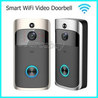 Wholesale Wireless Door Video Camera - Smart Wireless Doorbell HD 720P WIFI Video Doorbell Night Vision Motion Detection Alarm Door Phone Visual Intercom Camera Video Door Phones