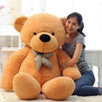 ursinhos grandes de pelúcia venda por atacado-[80-120 cm 3 cores] gigante tamanho grande teddy bear brinquedos de pelúcia brinquedo de pelúcia preço mais baixo presentes de aniversário de natal