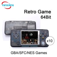 Wholesale Gba Box - 10PCS New Arrival Retro Game Console 64Bit AV Output Video Games Consoles Support GBA SFC NES SEGA Games With Box DHL YX-GBA-6