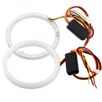 Wholesale car halo angel lights for sale - Group buy 2PCS Car Styling Auto Halo Rings Angel Eyes mm mm mm mm mm mm mm mm Cotton Lights V Headlight SMD White Yellow