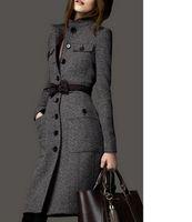 design de roupas femininas venda por atacado-IMC lã outerwear feminino QUENTE novo 2016 design longo magro tweed casaco de cashmere roupas de inverno mulheres tecido casaco de inverno mulheres casaco S18101302