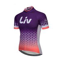 ciclismo bicicleta jersey pantalones cortos mujeres al por mayor-Equipo profesional Liv Tour de France Ciclismo camiseta de manga corta Mujeres Mountain Bike Ropa Quick Dry MTB Bicicleta Ropa deportiva camisas al aire libre