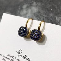 Wholesale low price gold earrings - Ultra-low price beehive color diamond ear hook fashion simple earrings jewelry woman earrings free shipping